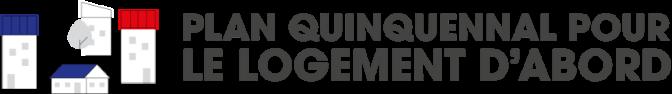 Logo Plan quinquennal pour le logement d'abord